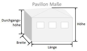 Pavillon Maße