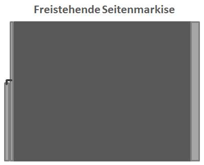 Freistehende Seitenmarkise