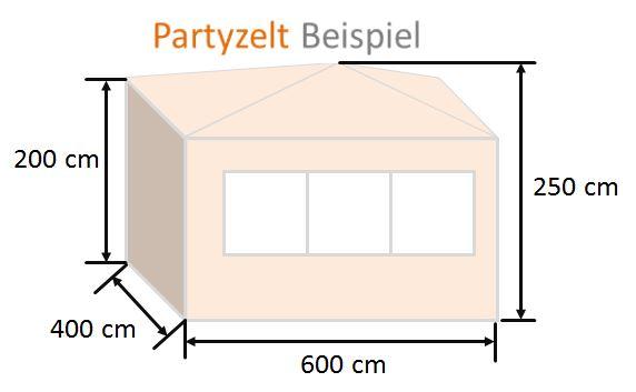 Partyzelt Beispiel