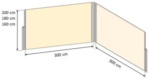 Sichtschutz Eck Maße
